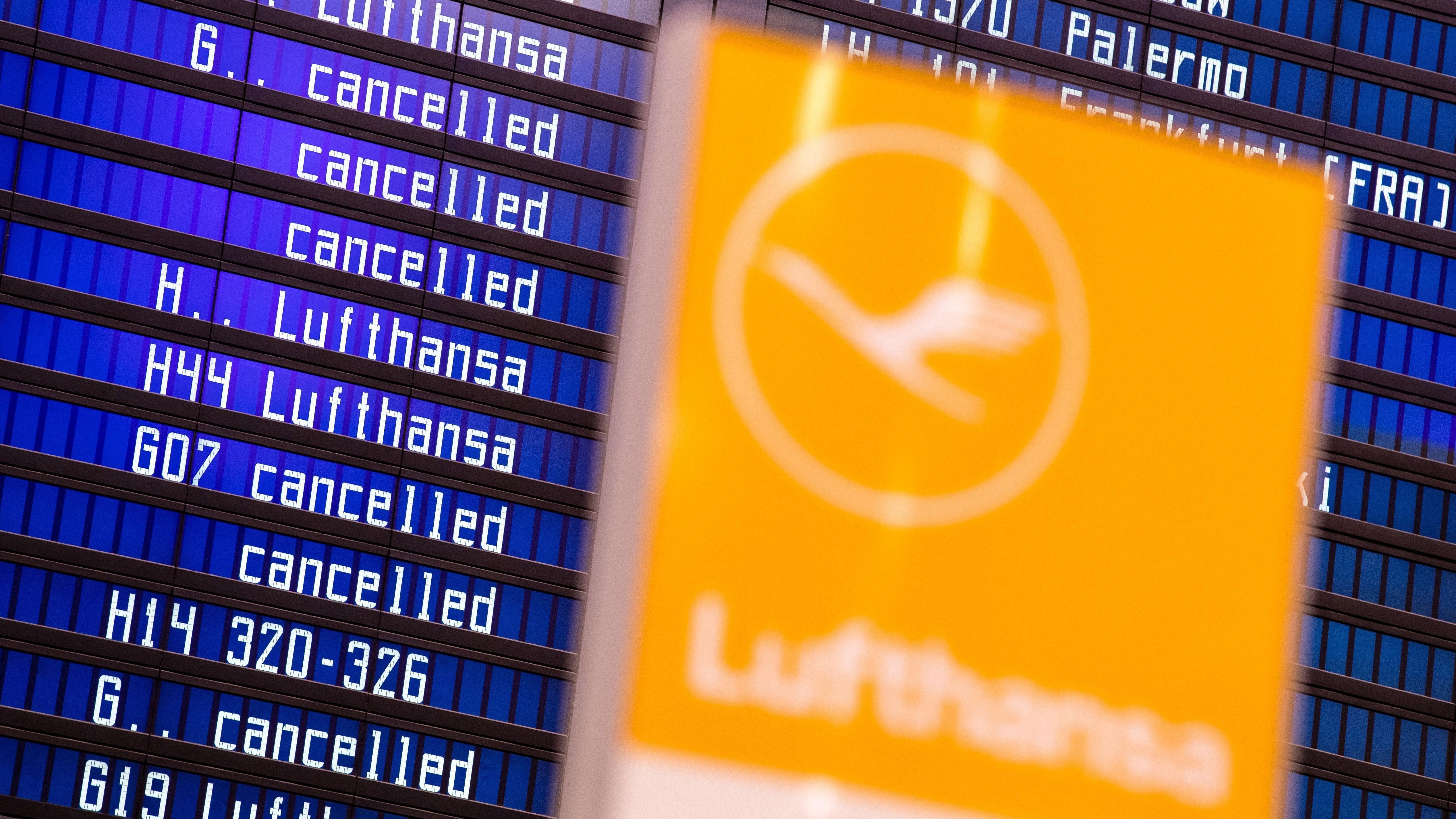 Flughafen München - Flugausfälle wegen Streiks