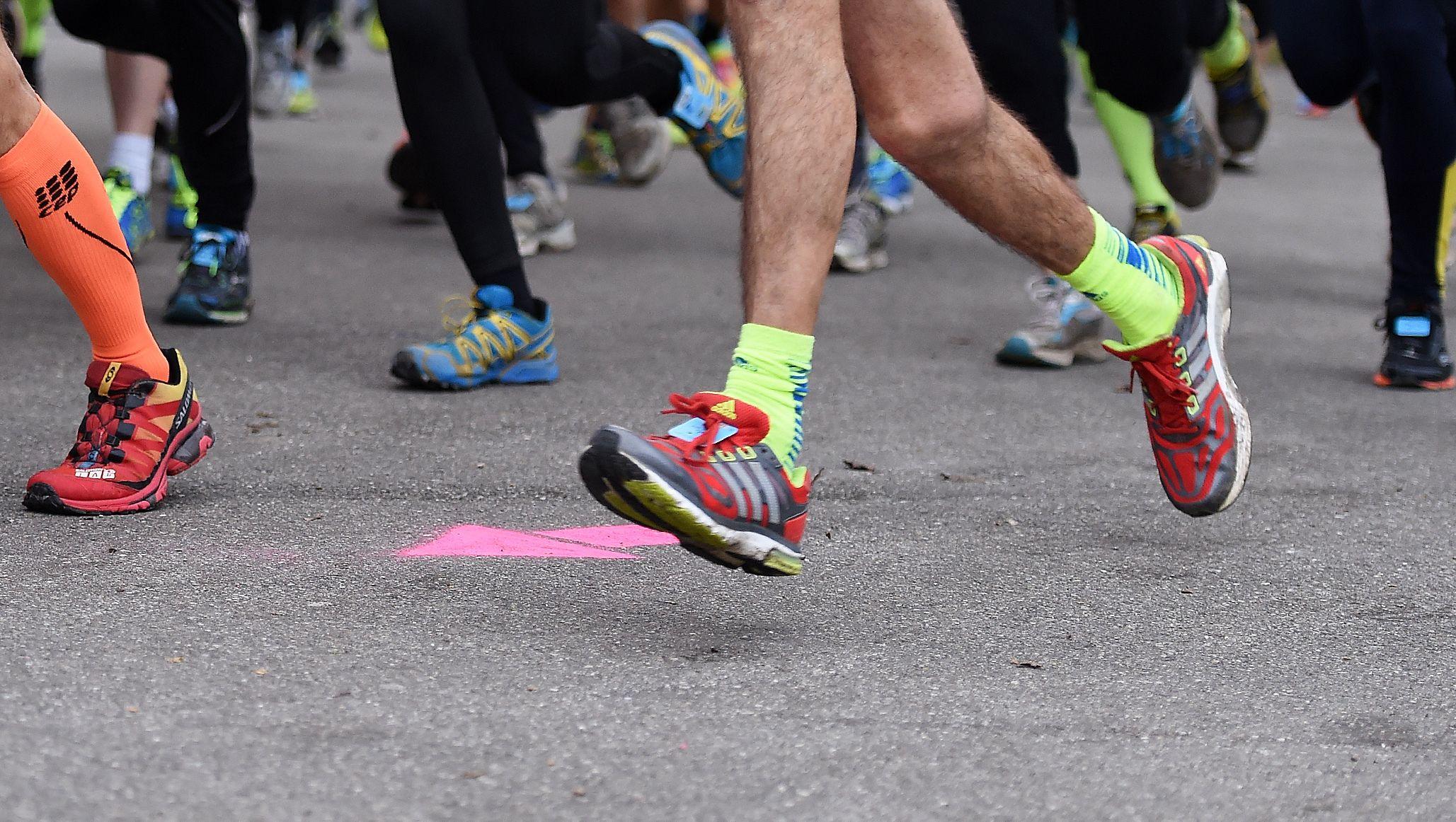 Beine von Läufern