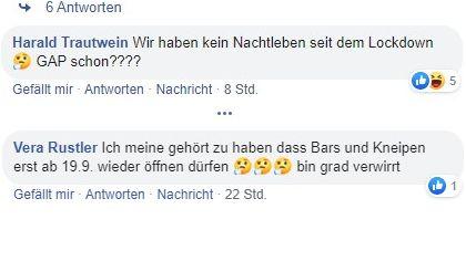 Facebook-Kommentare von BR24-Nutzern (zwei Screenshots untereinander)