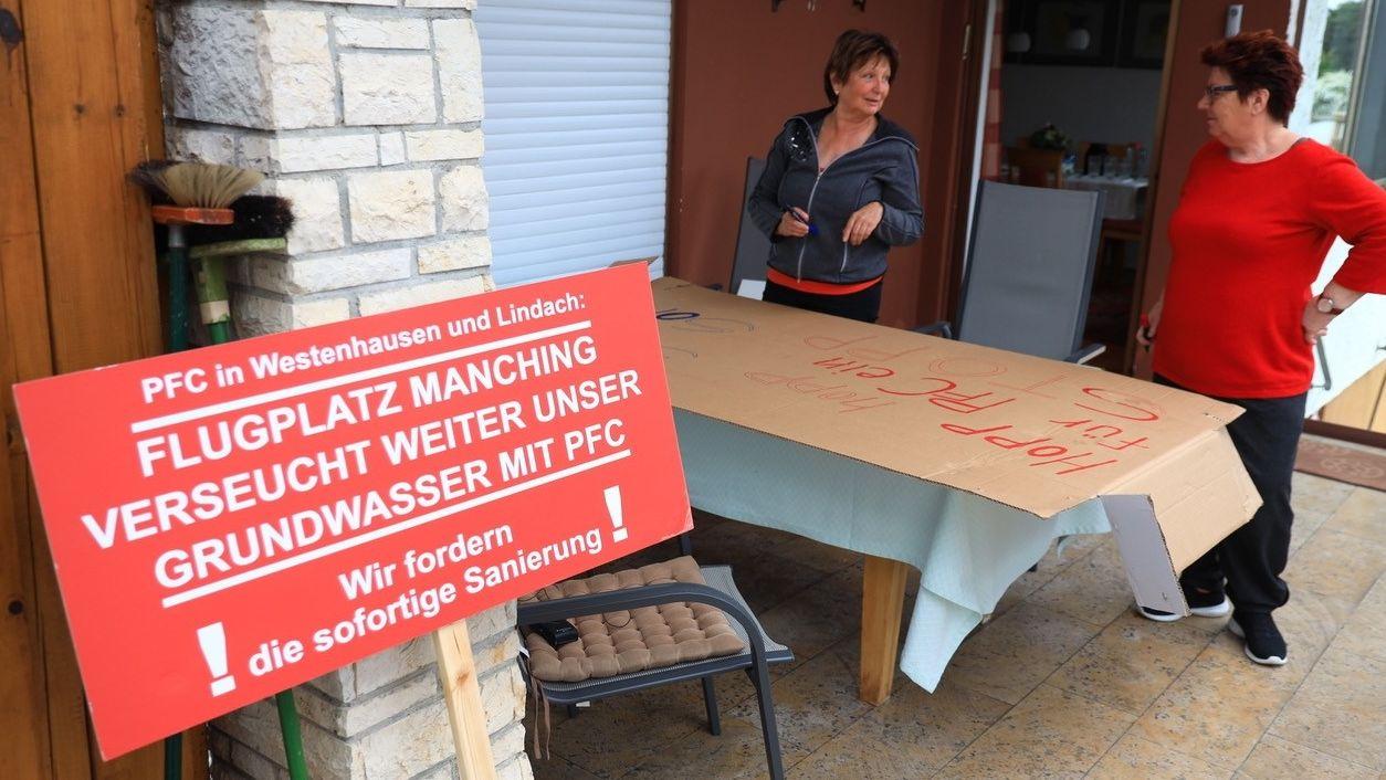 Manching: Vorbereitungen für die Großdemo gegen PFC-Belastung durch Militärflugplatz