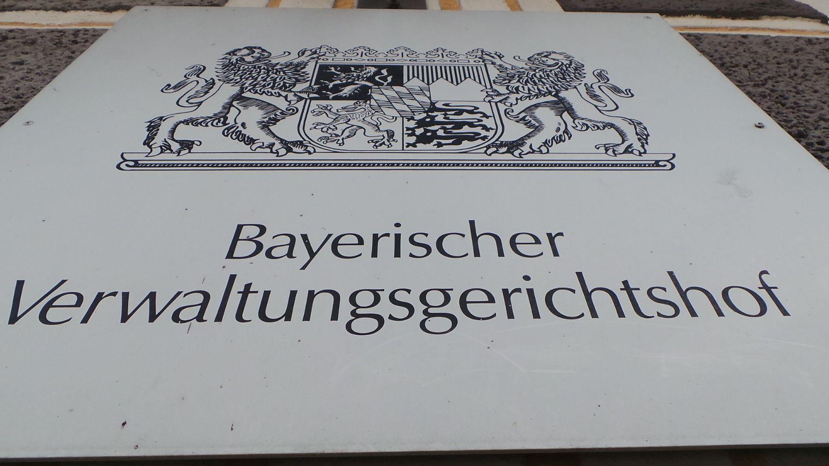 Schild am Bayerischen Verwaltungsgerichtshof