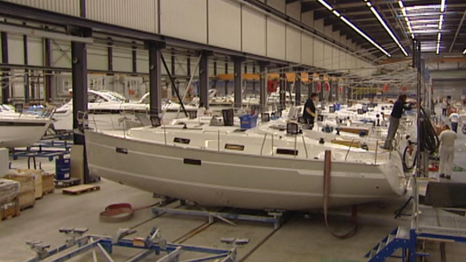 Werkshalle von Bavaria Yachts in Giebelstadt