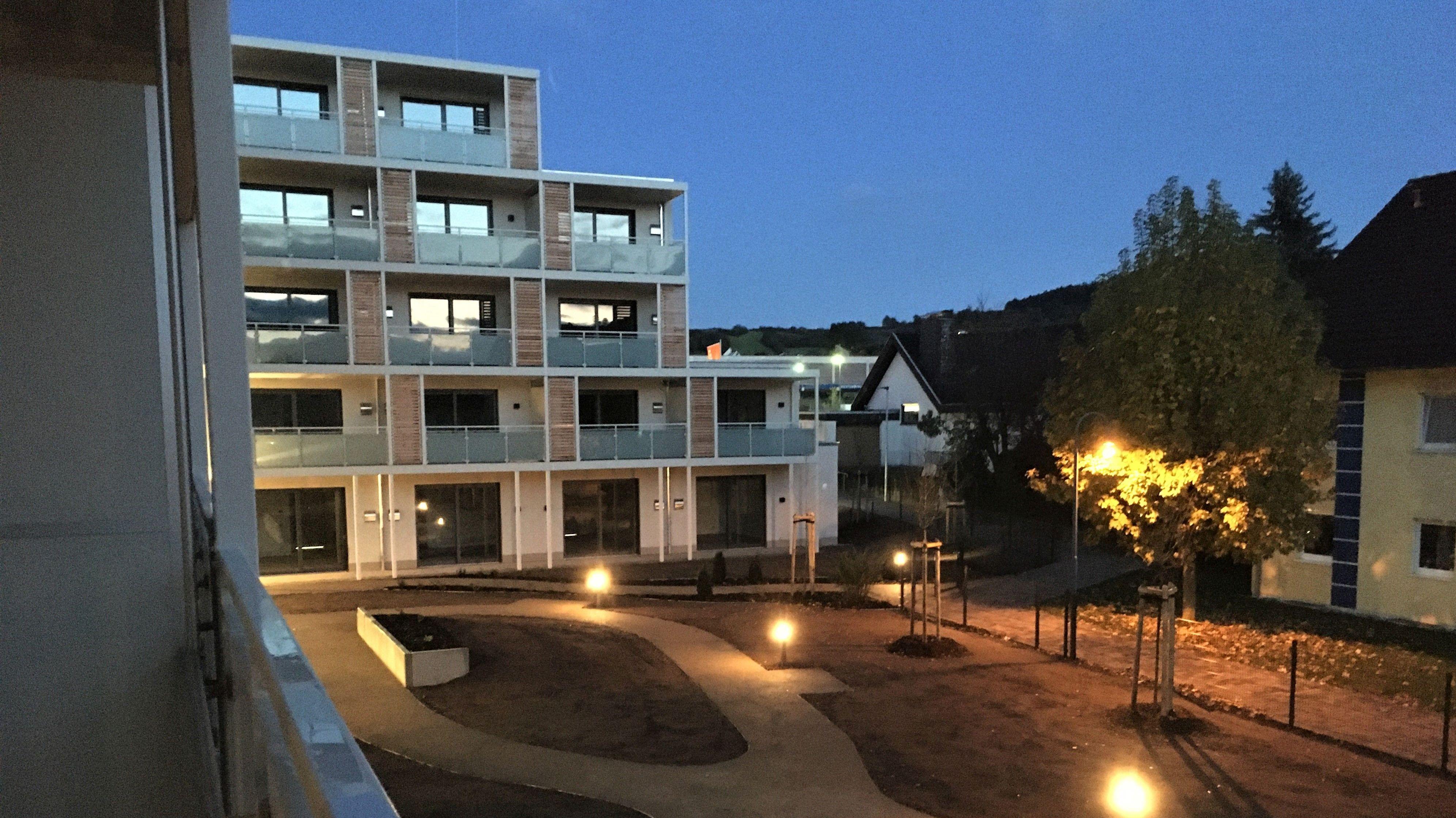 Das neue Wohnstift Andreas Bodenstein bei Nacht