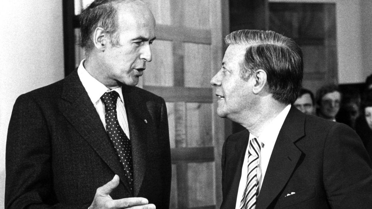 Giscard d'Estaing (l.) und Helmut Schmidt 1978 in Bonn
