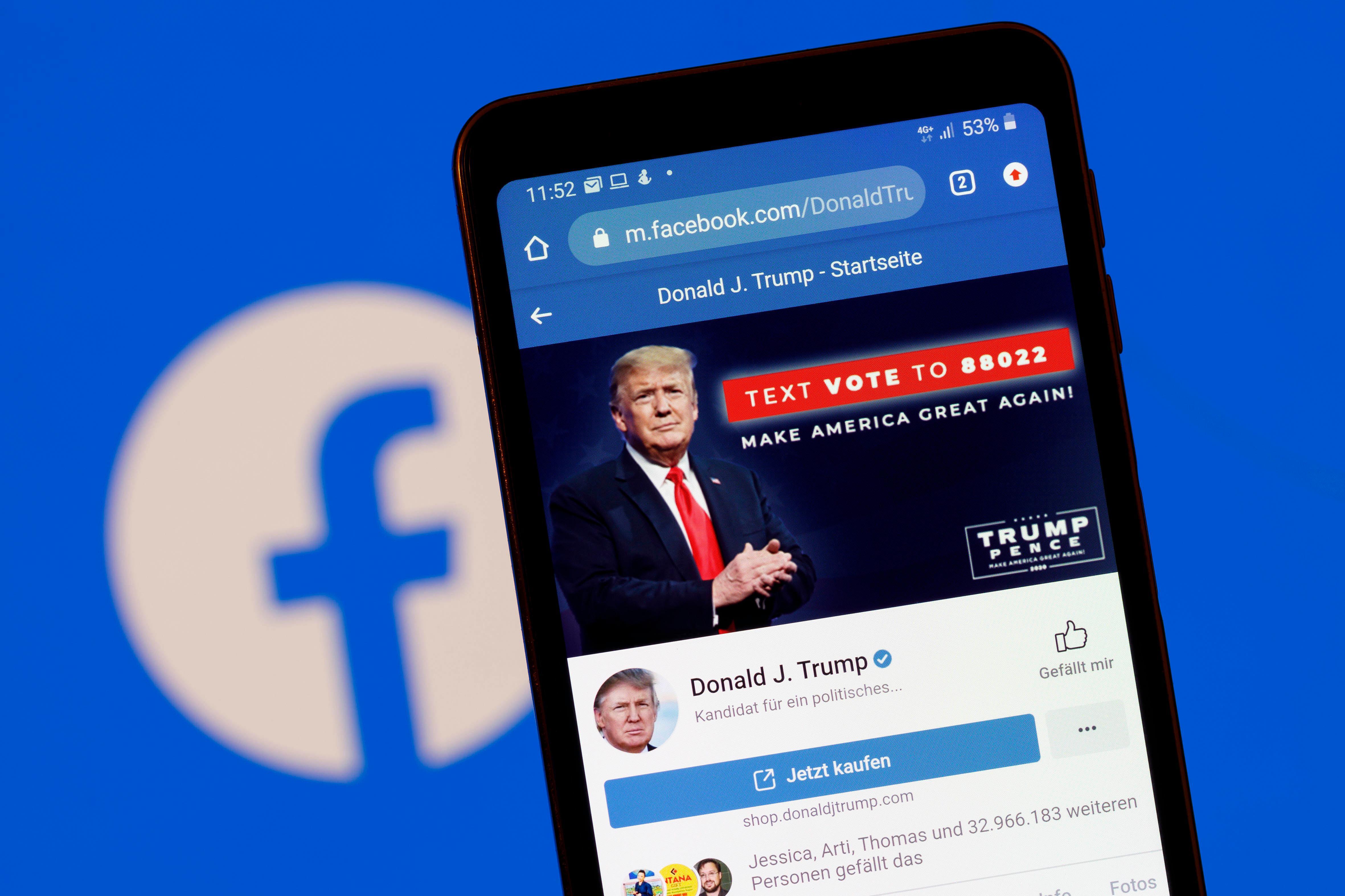 Zuckerberg: Facebook sperrt Trump bis auf Weiteres