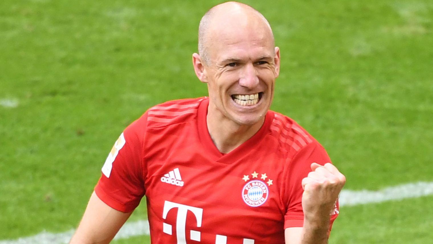 Auch in seinem letzten Bundesliga-Heimspiel traf Robben noch einmal.