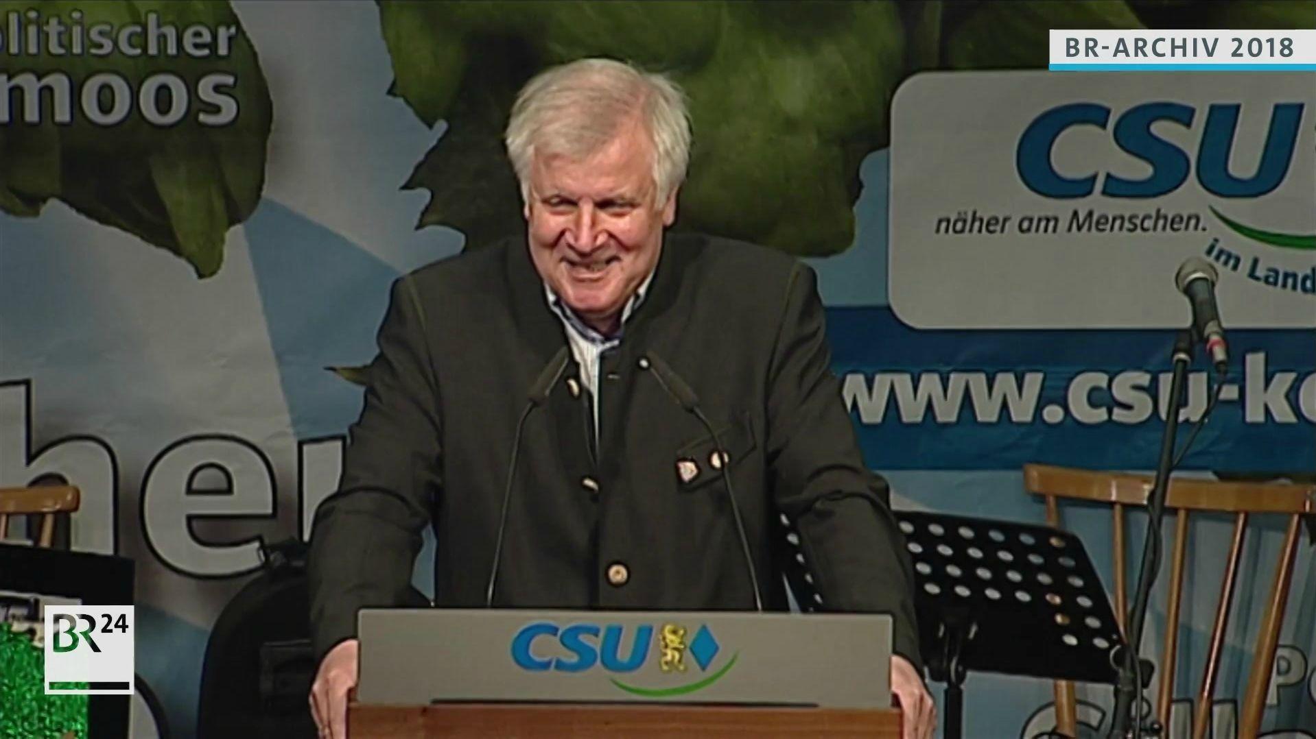 Horst Seehofer beim Gillamoos