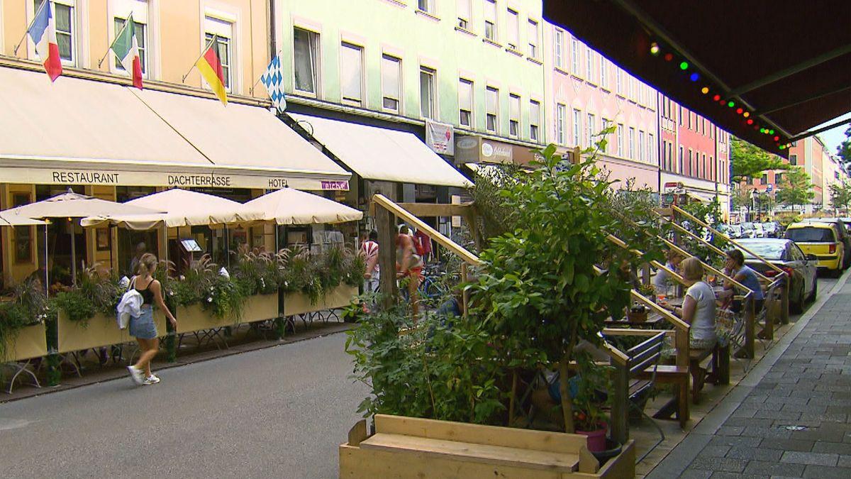 Freischankflächen in München Nähe Gärtnerplatz