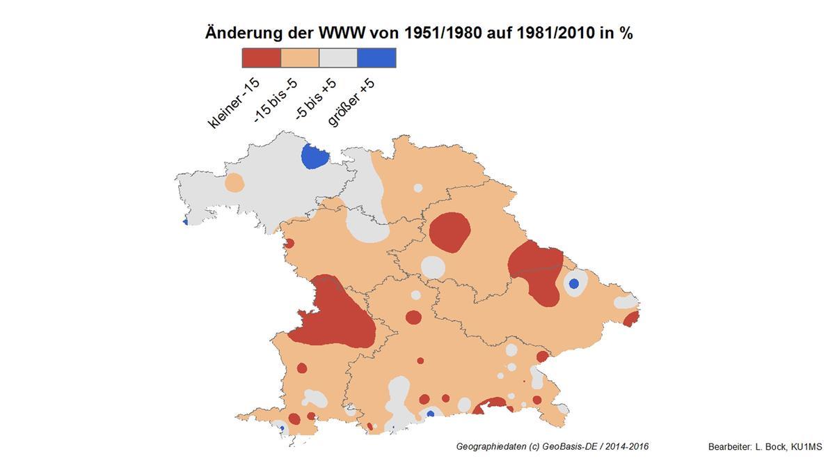 Die Wahrscheinlichkeit von weißen Weihnachten in Bayern