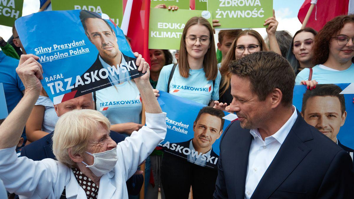 Der liberale Warschauer Oberbürgermeister Rafal Trzaskowski im Wahlkampf um die Präsidentschaft