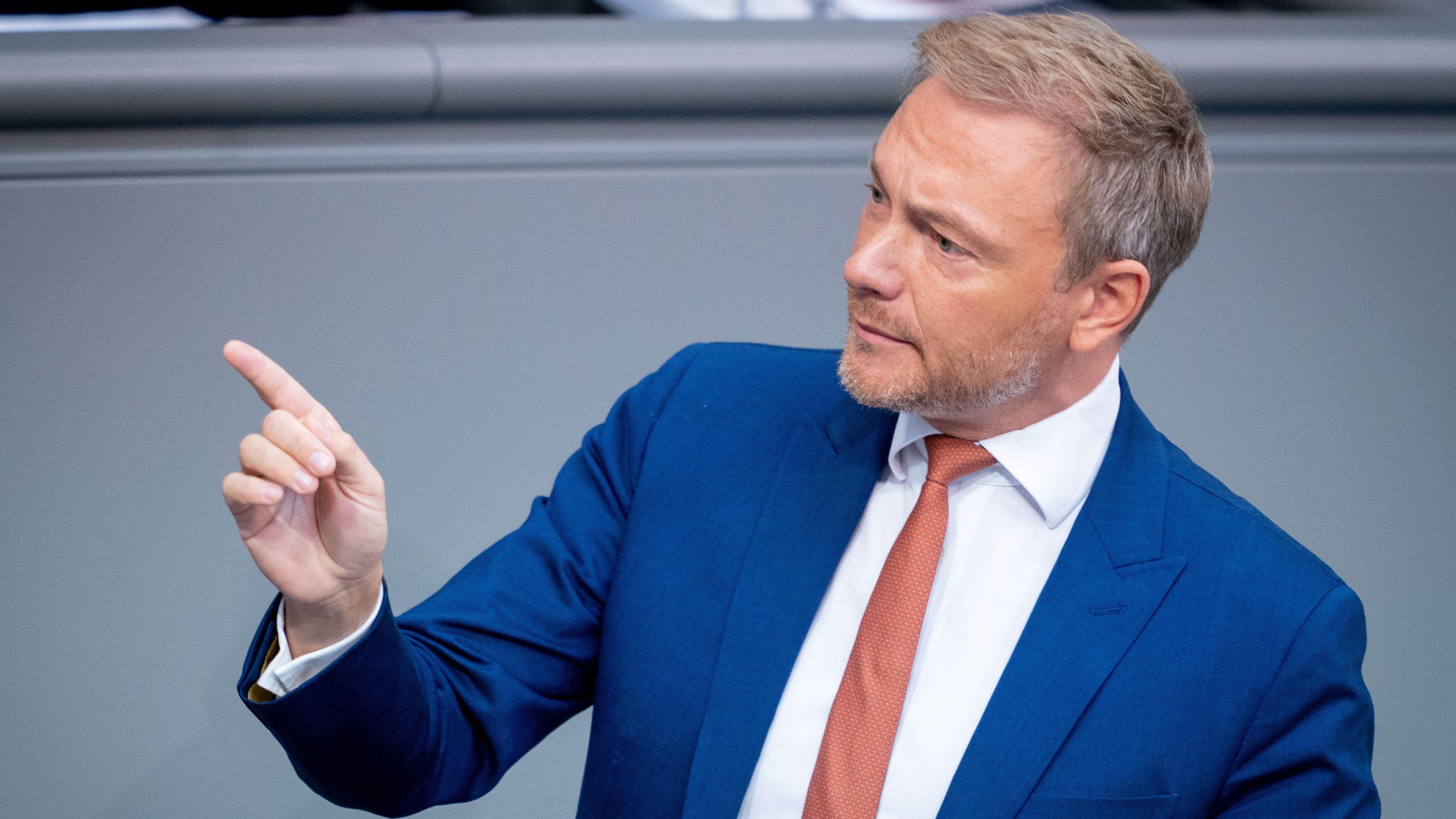 Christian Lindner (FDP) im Bundestag