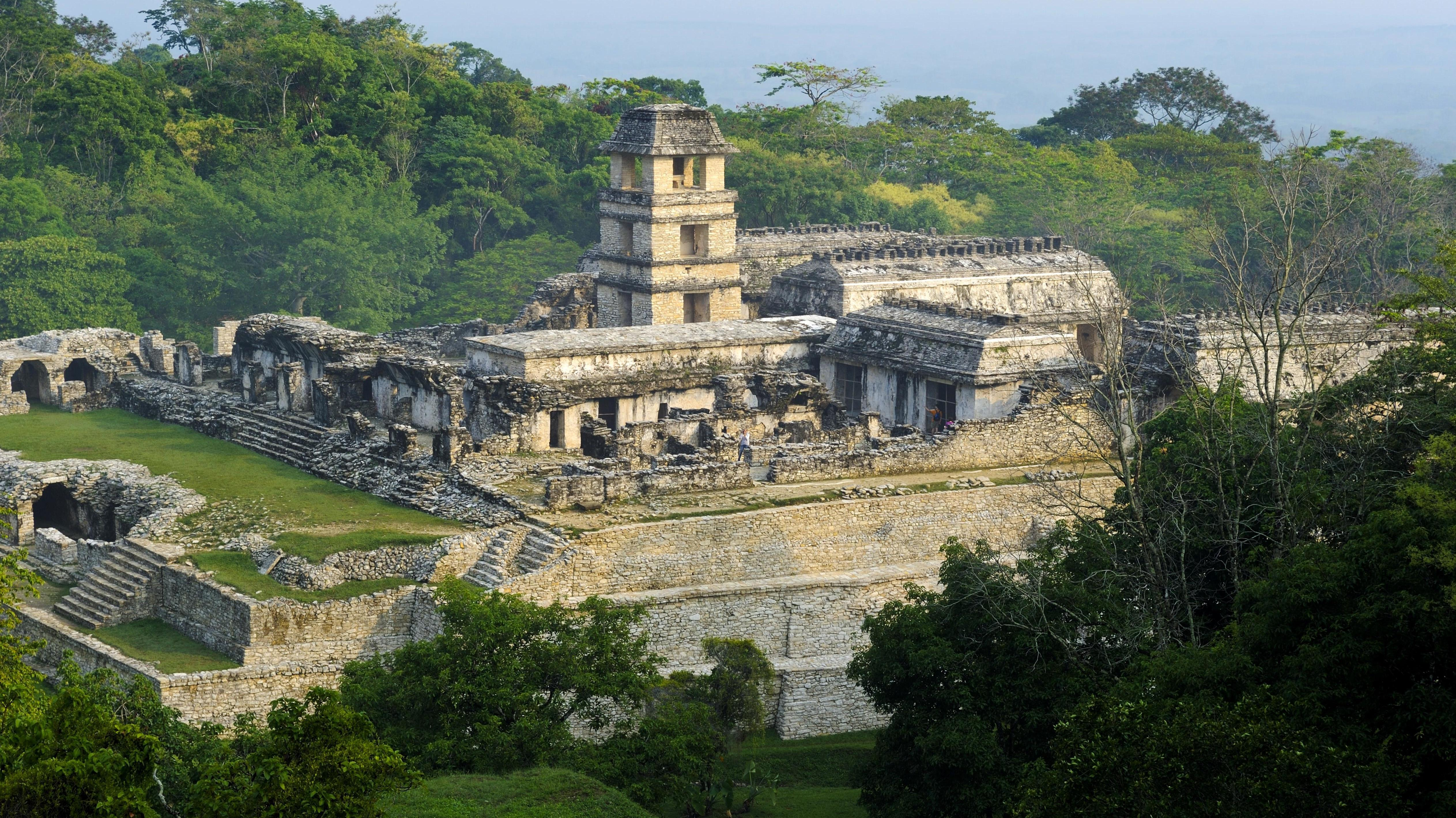 Maya Ruinen von Palenque, Tempel, Chiapas in Mexiko