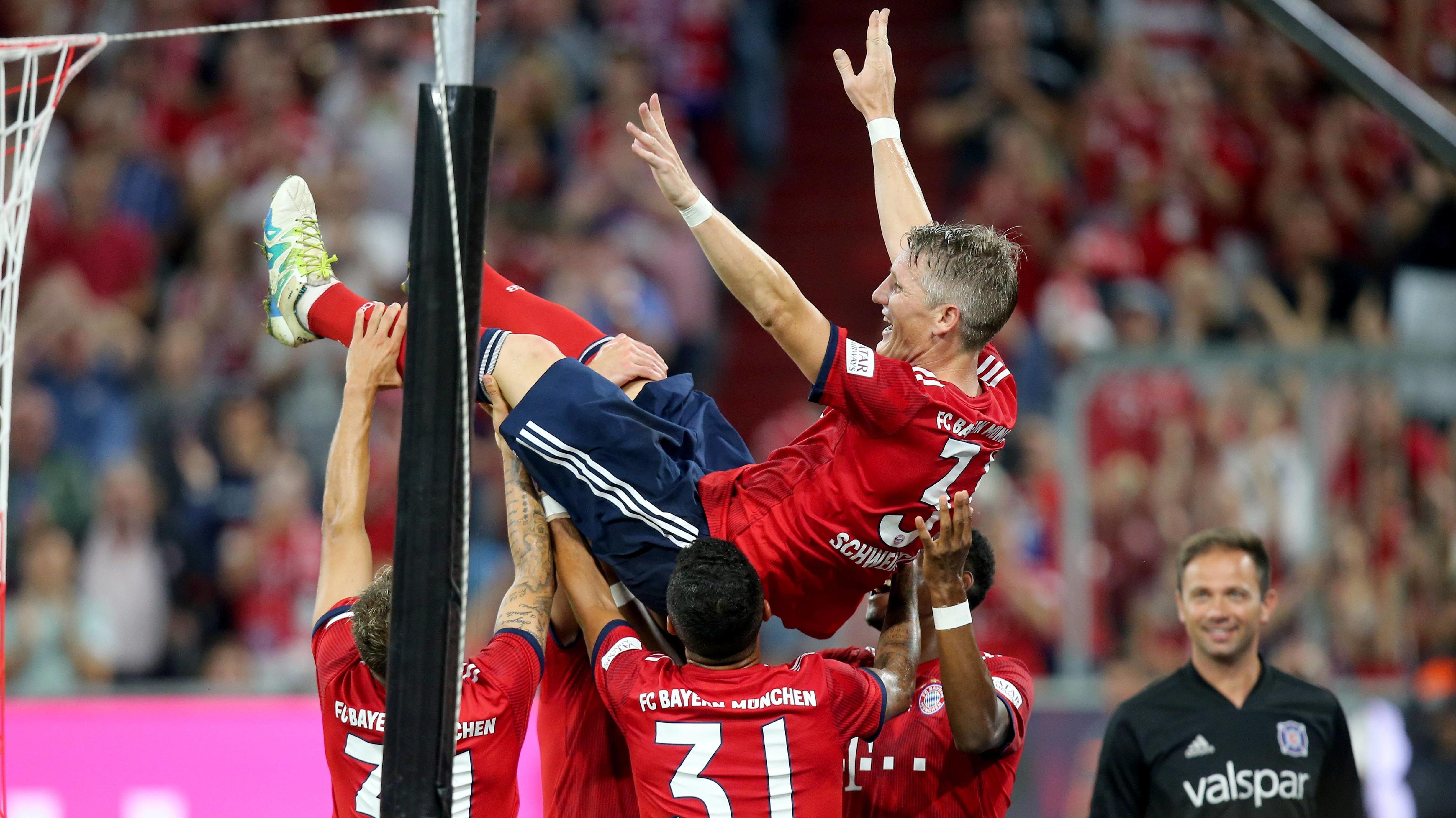 FC-Bayern-Spieler und Bastian Schweinsteiger