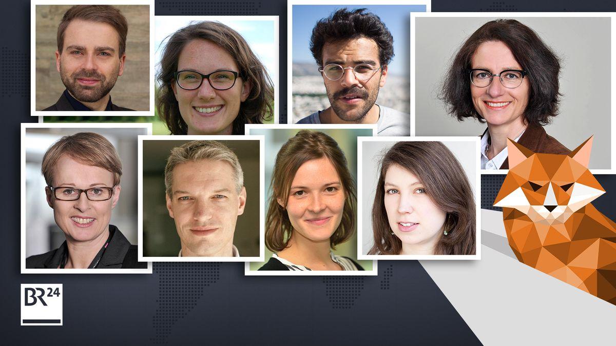 Das Kern-Team des BR24-#Faktenfuchs. Aber auch Fachjournalisten aus dem ganzen BR steuern ihr Wissen bei.