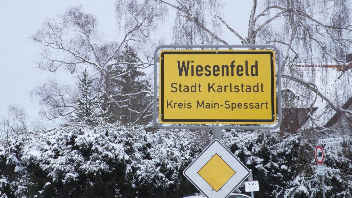 Ortsschild von Wiesenfeld