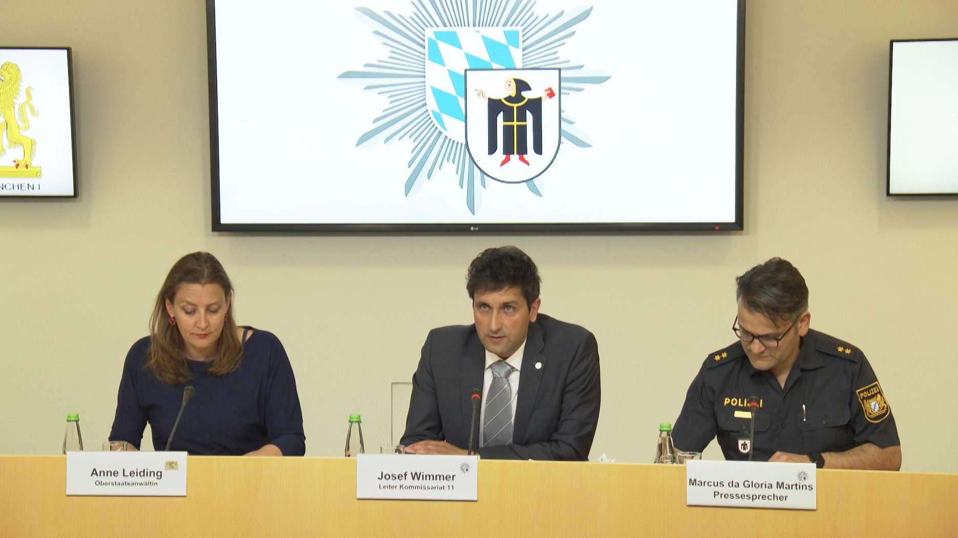 Pressekonferenz von Staatsanwaltschaft und Mordkommission nach Messerattacke in Münchner Hotel