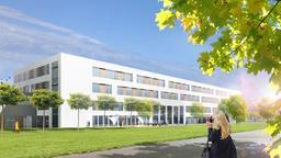 Entwurf: So könnte das neue Wichernhaus in Rummelsberg (Lkr. Nürnberger Land) einmal aussehen.   Bild:Krankenhaus Rummelsberg