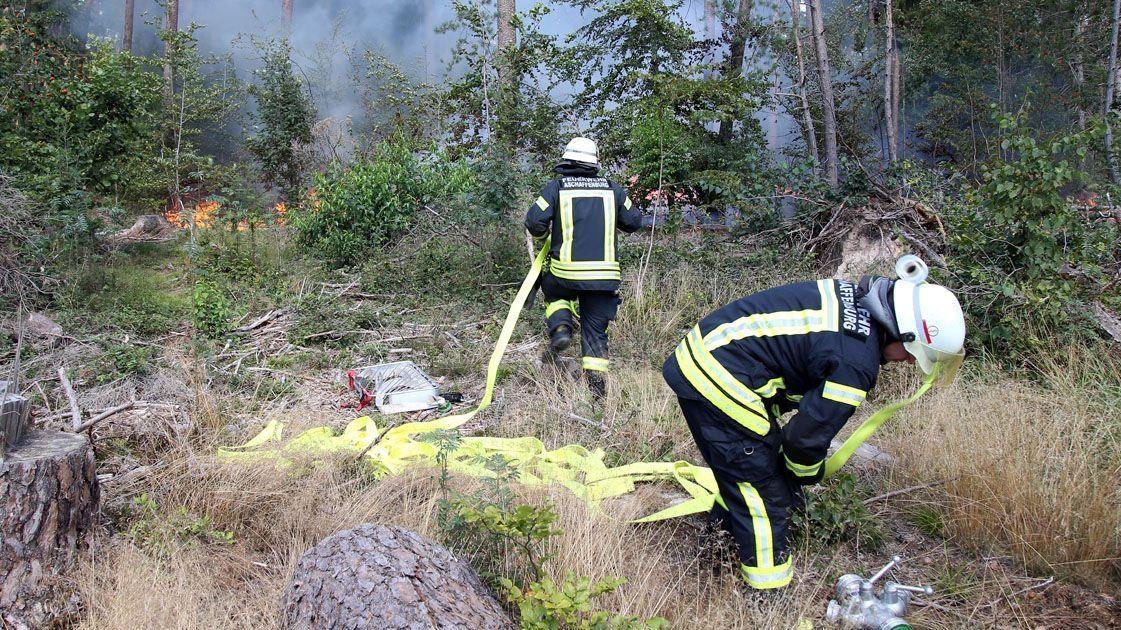 Waldbrand bei Aschaffenburg