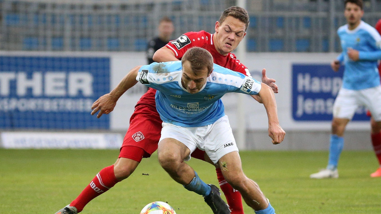 Spielszene Chemnitzer FC- Würzburger Kickers