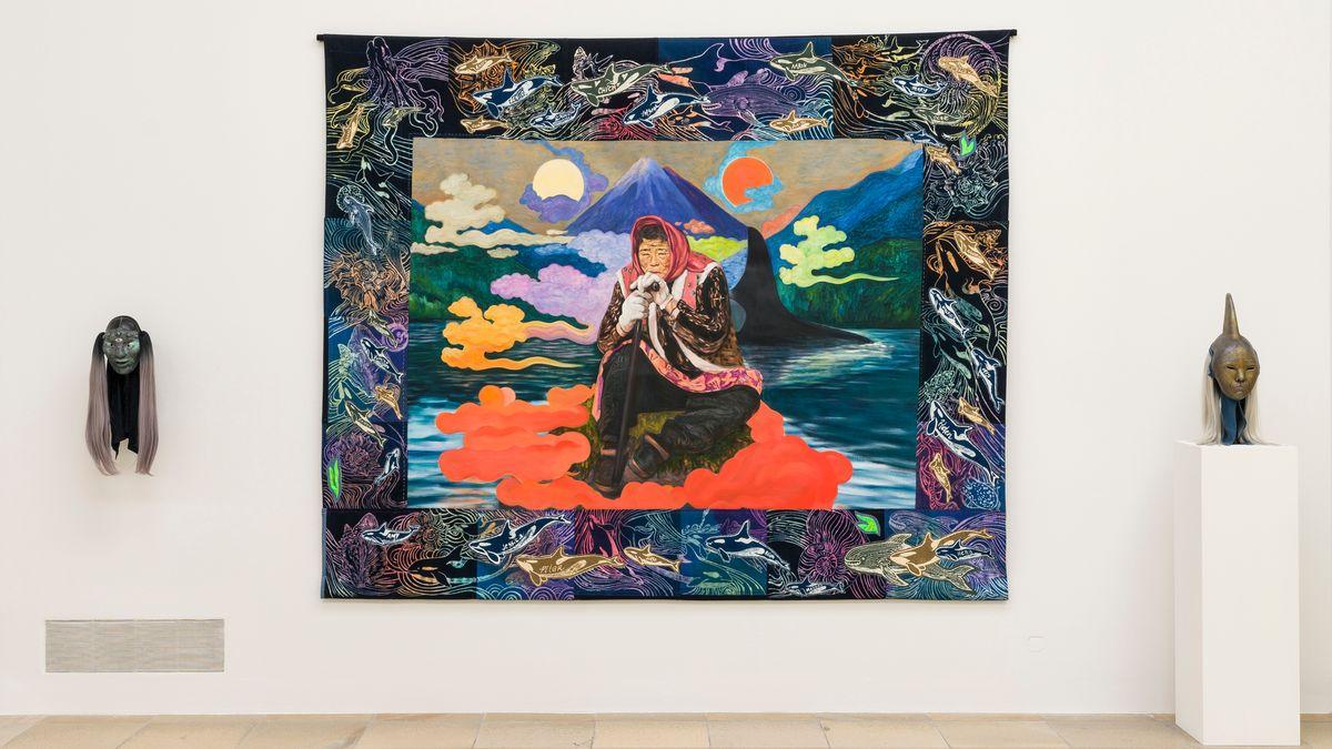 "Zadie Xa: ""Homage to my ancestors and Magohalmi mask"", 2019, HdK 2021."