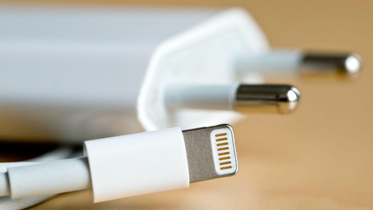 Apple Ladegerät und Lightning-Kabel