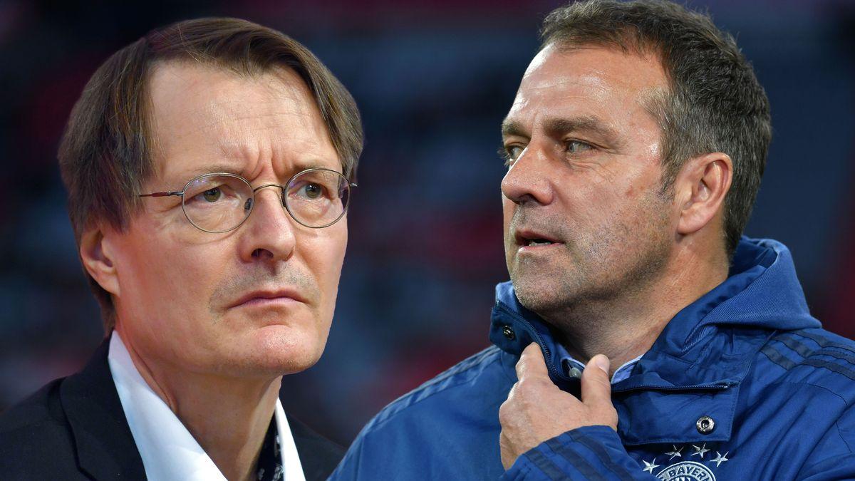 FOTOMONTAGE: SPD Gesundheitsexperte Karl Lauterbach und Hans Dieter Flick
