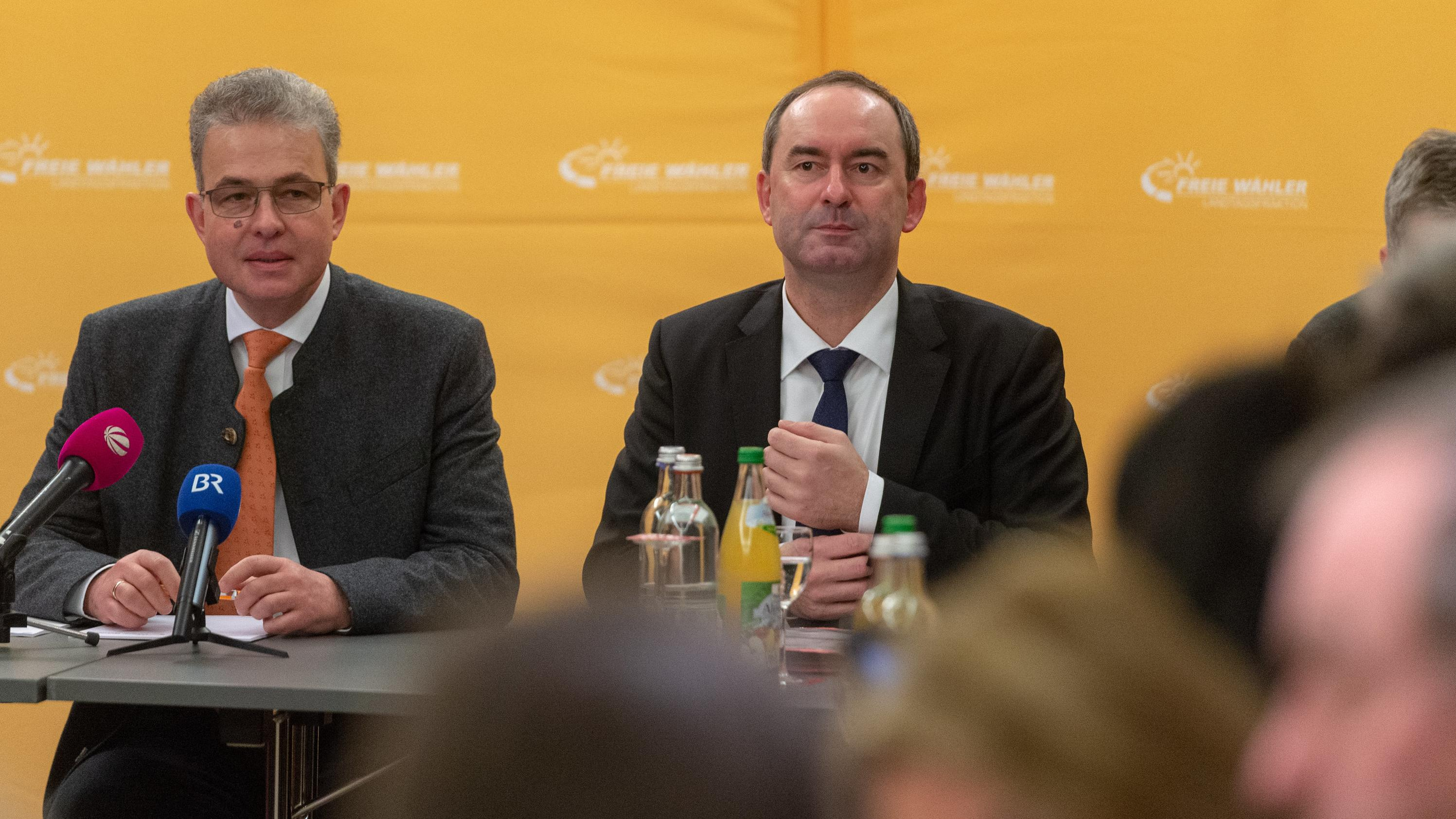 Winterklausur der Landtagsfraktion der Freien Wähler: Florian Streibl und Hubert Aiwanger