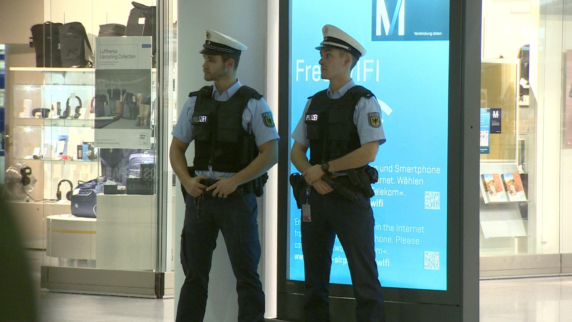 Verstärkte Polizeipräsenz am Münchner Flughafen