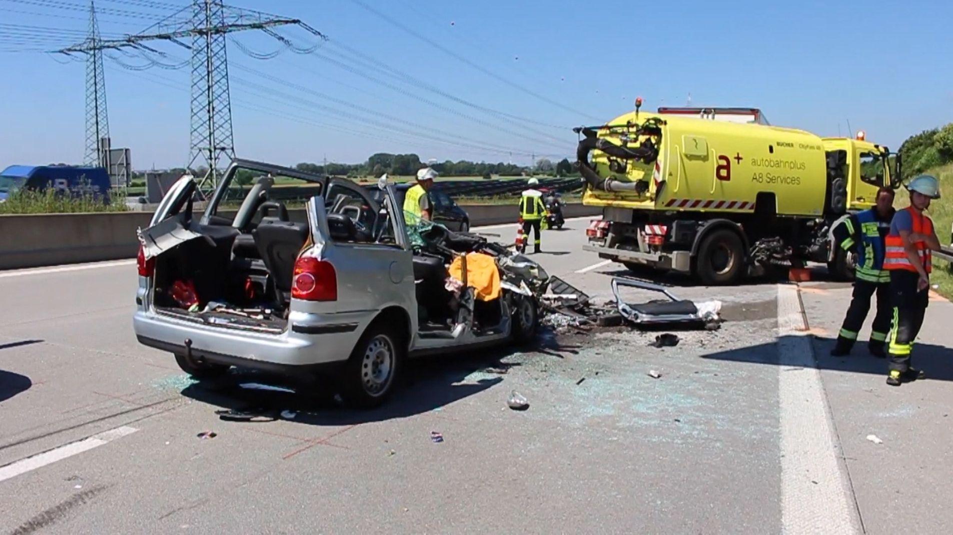 Unfallstelle auf der A8