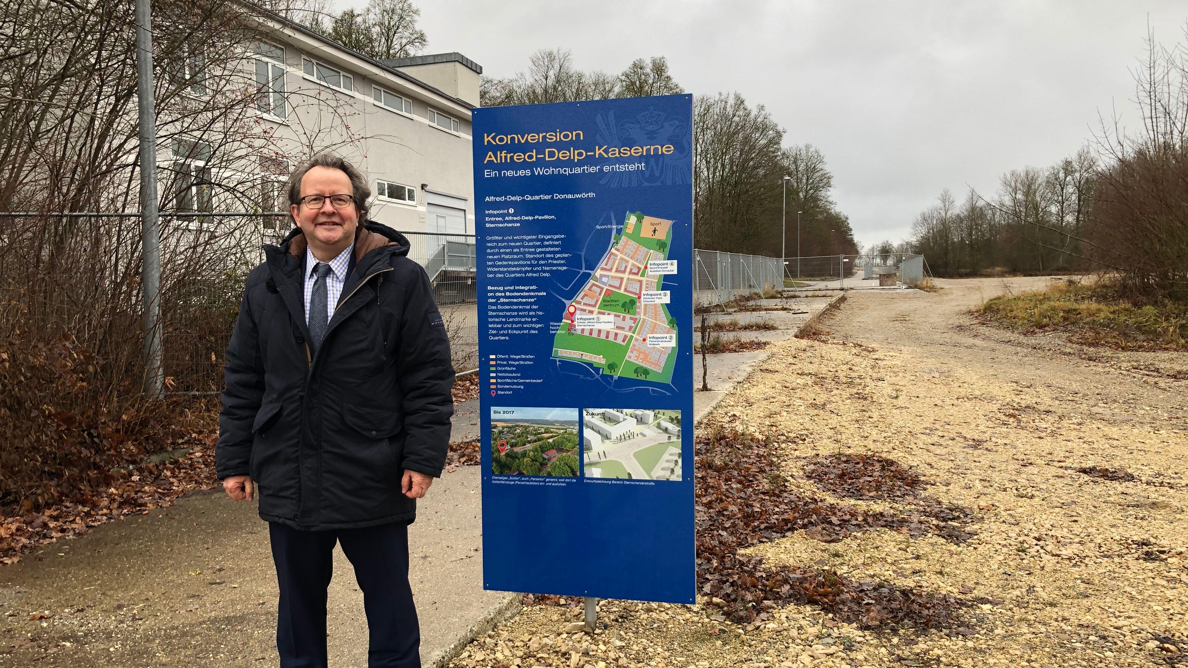 OB Armin Neudert vor Baugebiet: Große Pläne für das alte Ankerzentrum in Donauwörth