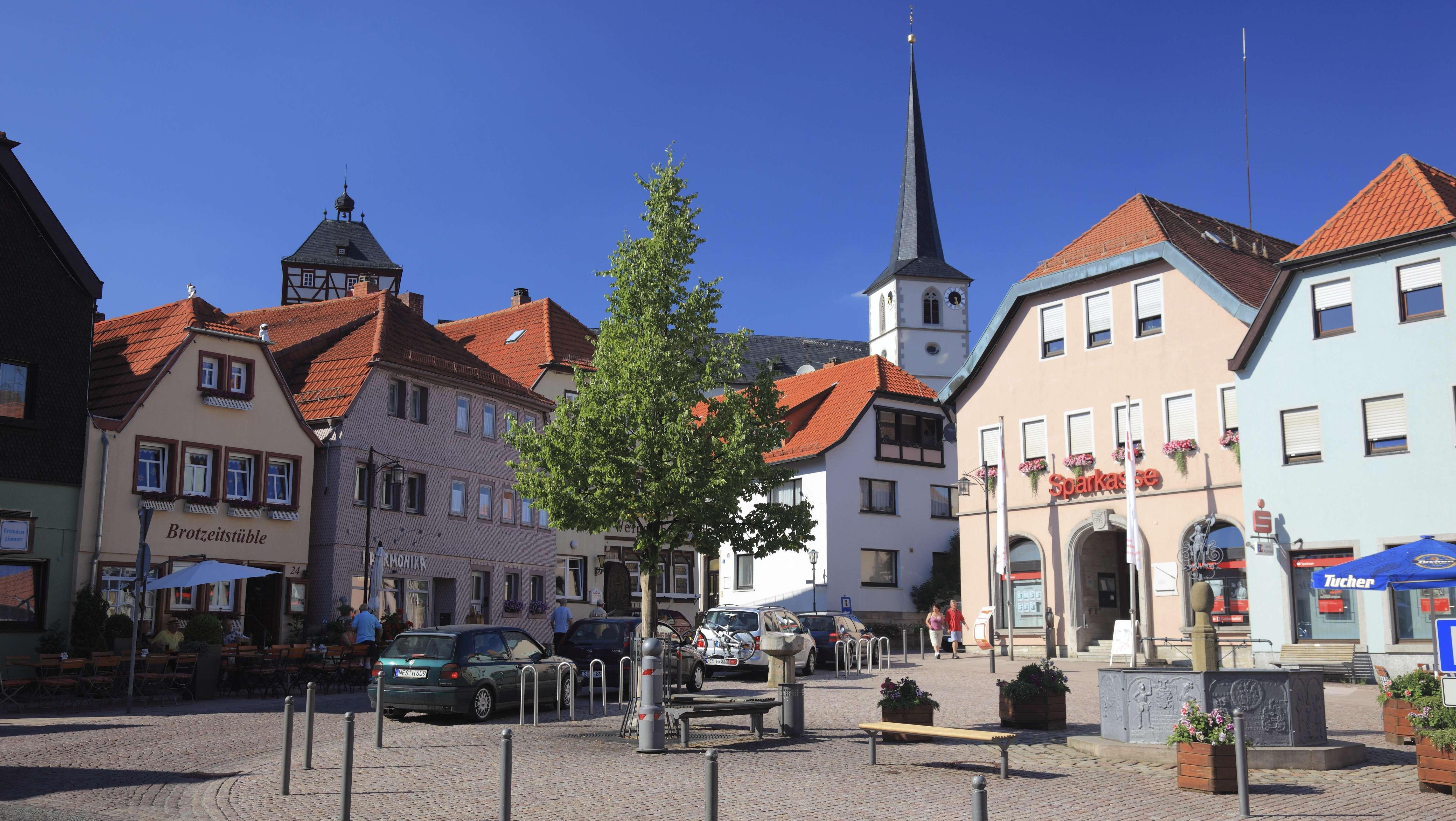 Marktplatz von Bischofsheim an der Rhön