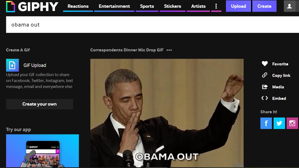 Obama Out Gif