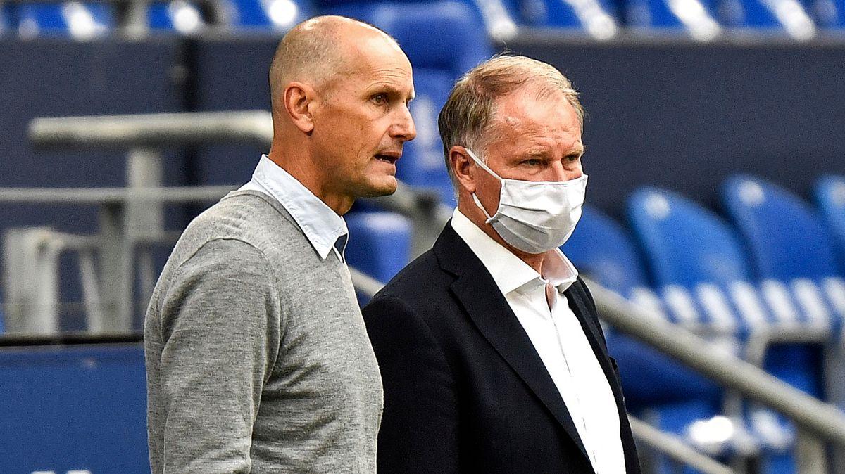 FCA-Trainer Heiko Herrlich und FCA-Sport-Geschäftsführer Stefan Reuter