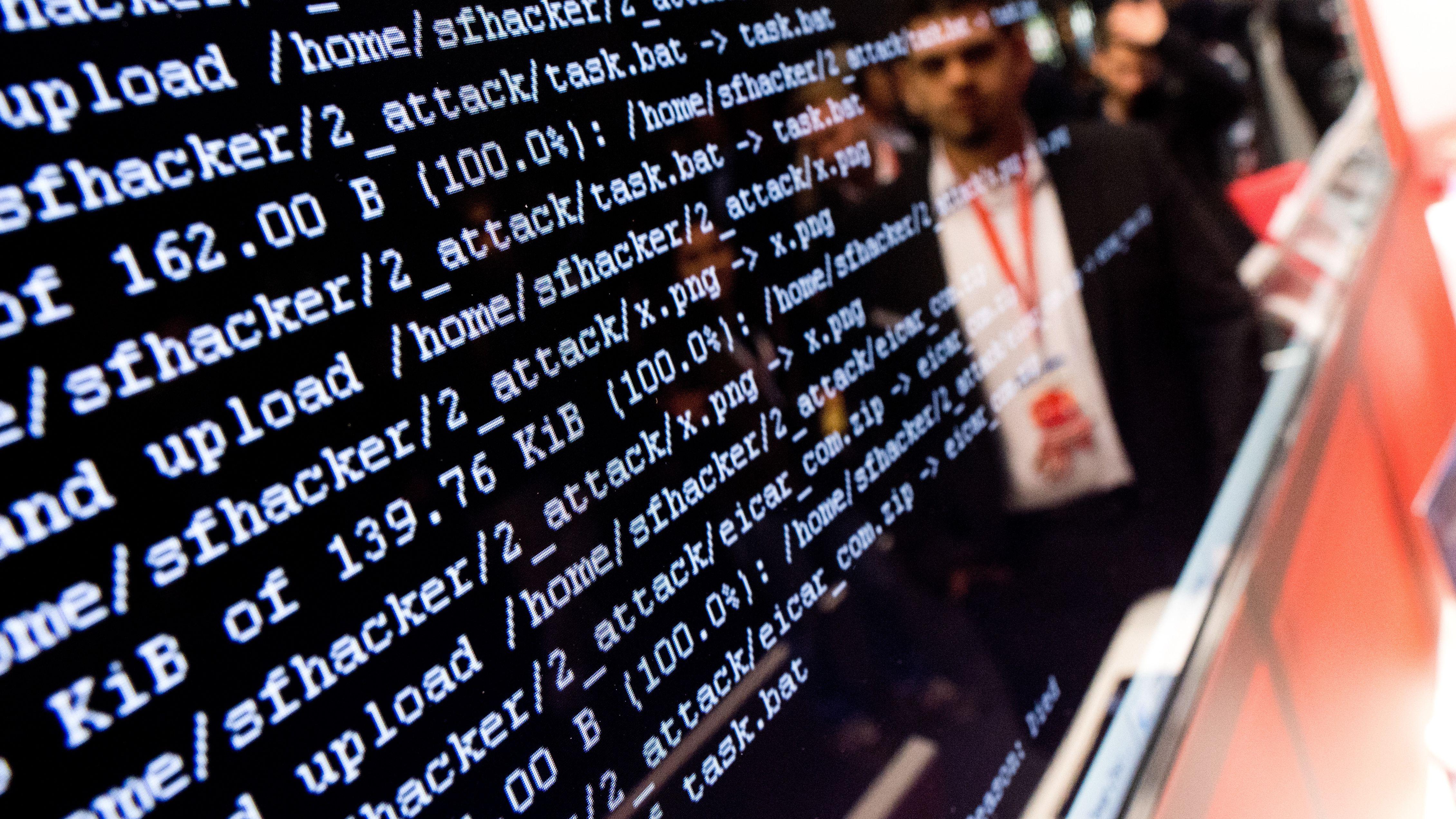 Simulierter Hackerangriff auf der Hannovermesse 2018.
