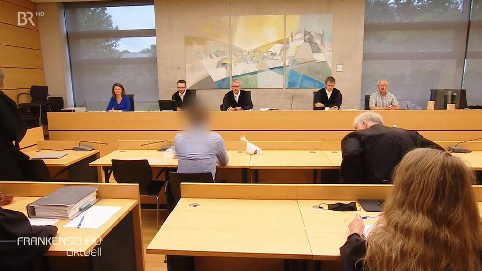 Prozess wegen Kindsmissbrauchs am Landgericht Würzburg   Bild:BR Fernsehen