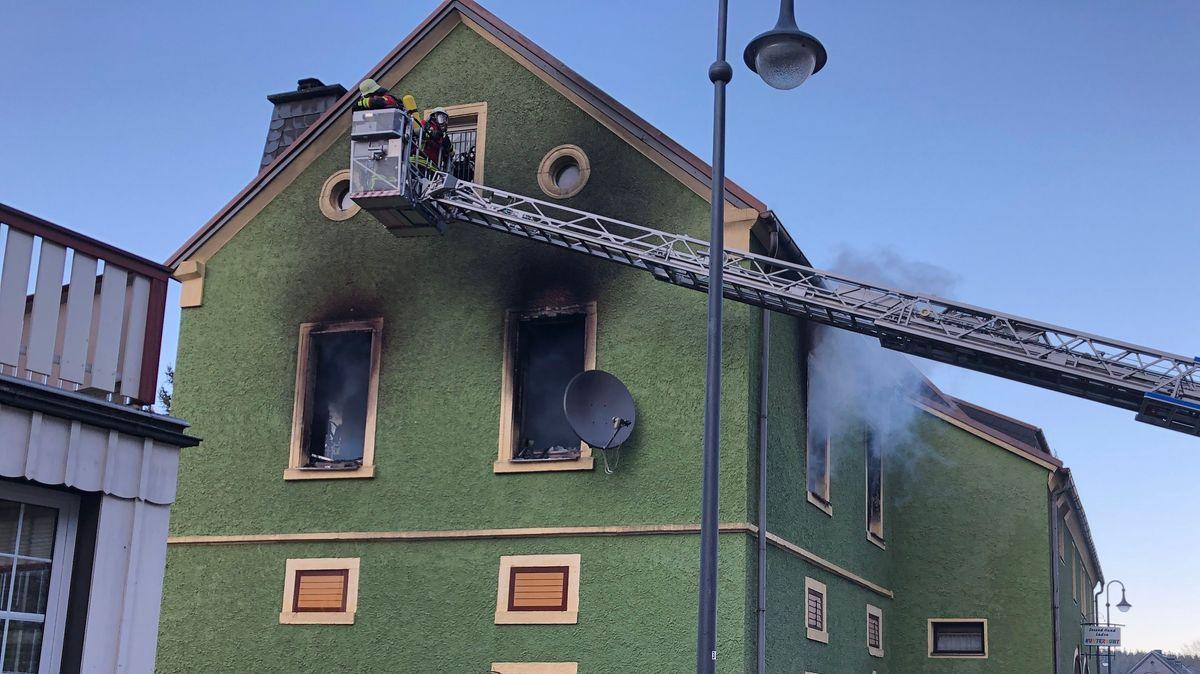 Ein Mehrfamilienhaus im Landkreis Wunsiedel brannte