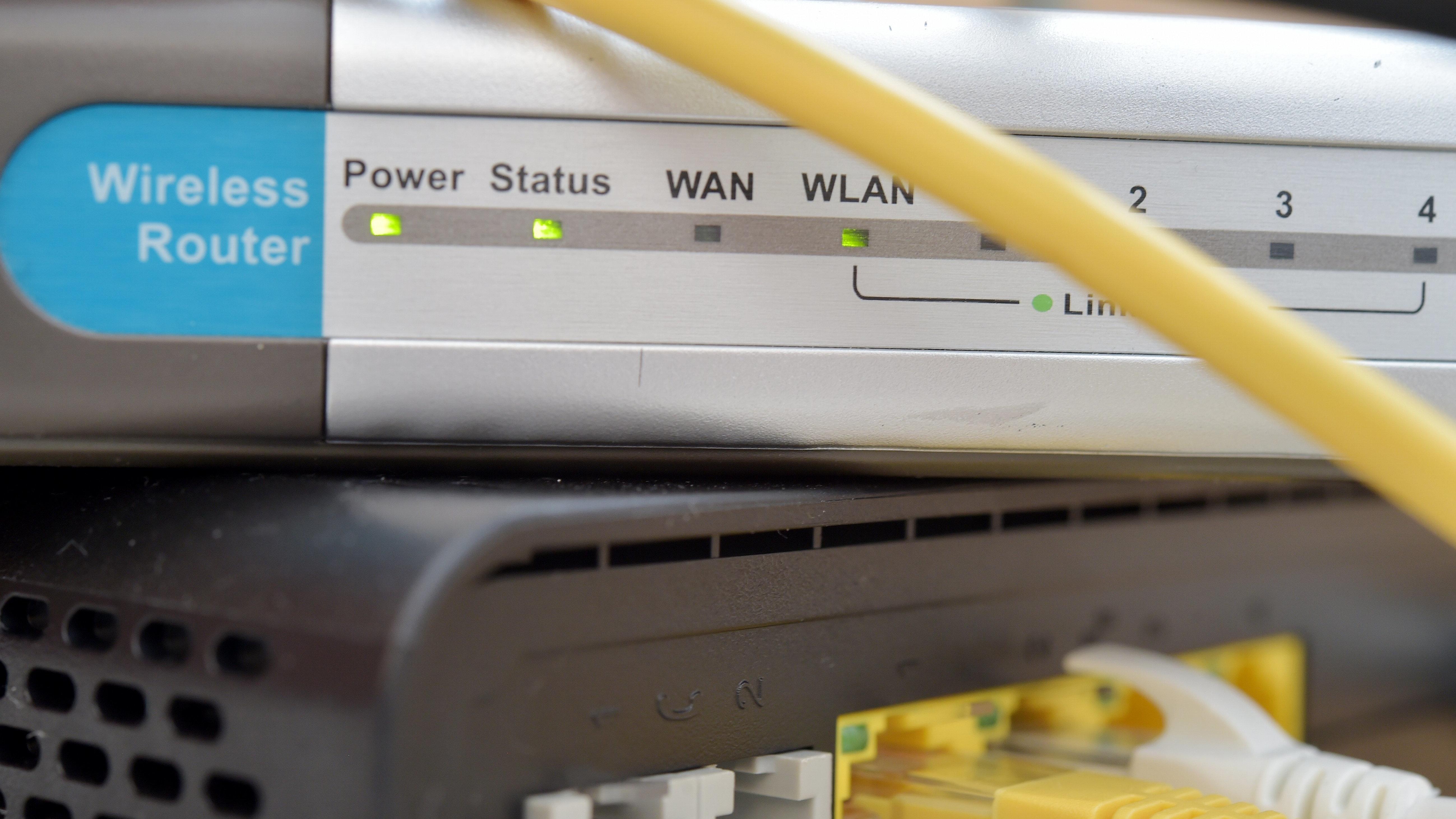 Symbolfoto eines WLAN-Routers