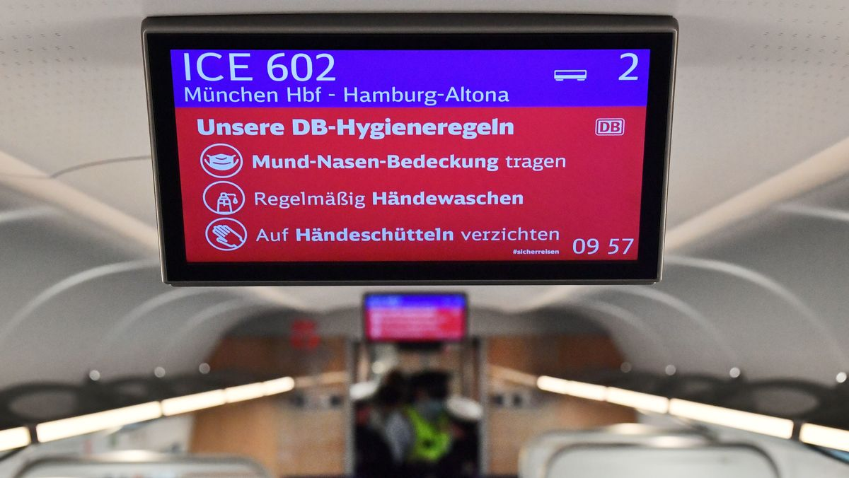 Die Regeln der Deutschen Bahn: Auch Maske tragen