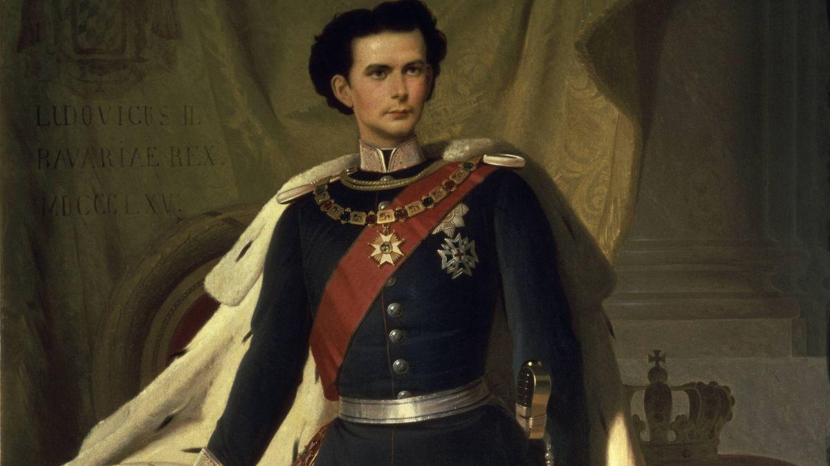 Ludwig II. - Porträt in Generalsuniform 1865