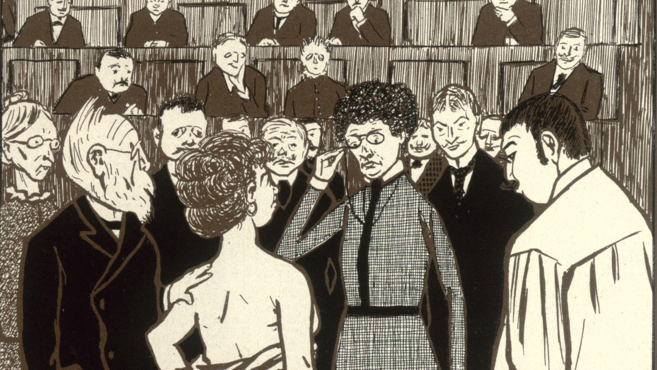 Frauenstudium? Karikatur von Th. Th. Heine