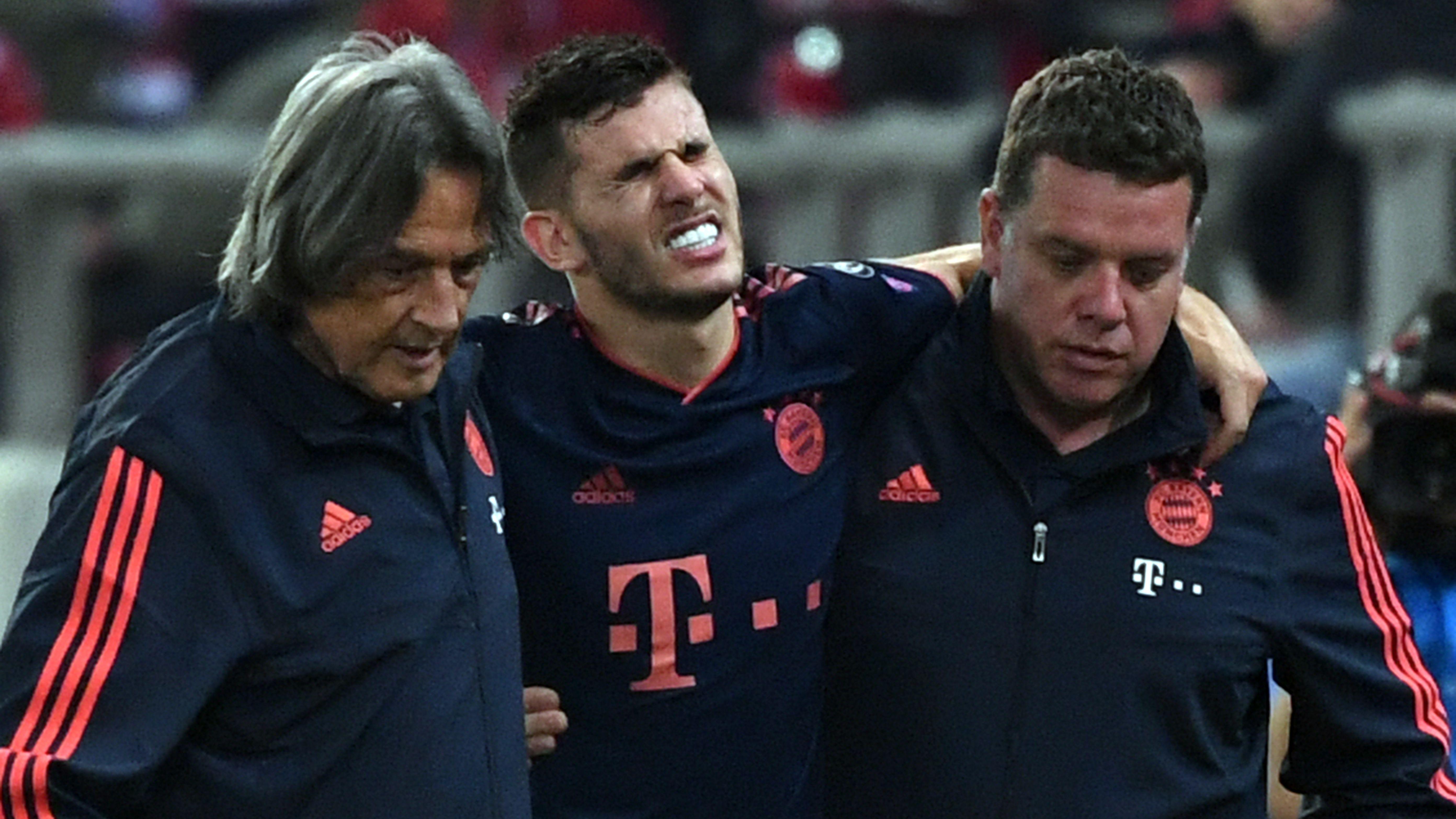 Mit starken Schmerzen ausgewechselt: Bayerns Rekordtransfer Lucas Hernández.