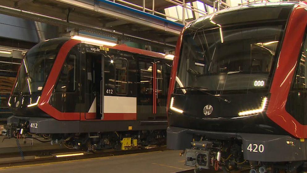 Neue U-Bahn-Züge für Nürnberg | Bild:BR