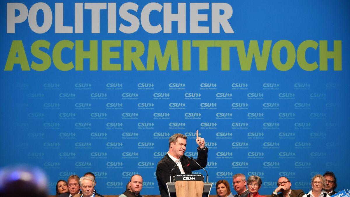 Markus Söder beim Politischen Aschermittwoch 2020 in Passau