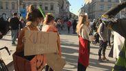 Theaterleute demonstrieren für den Kulturbereich. | Bild:BR