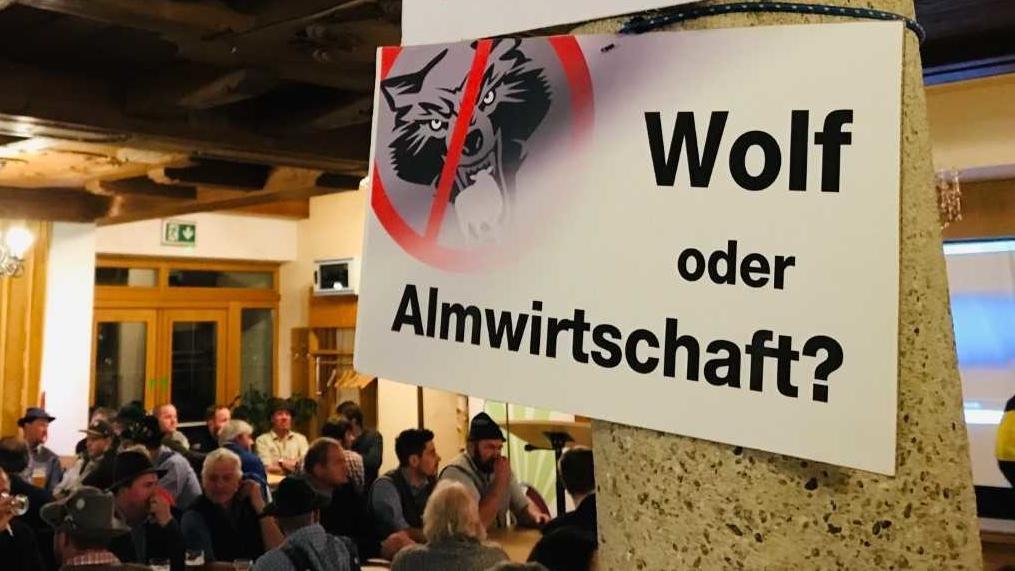 Veranstaltung des bayerischen Bauernverbandes in Rohrdorf - Wolf oder Weidewirtschaft.