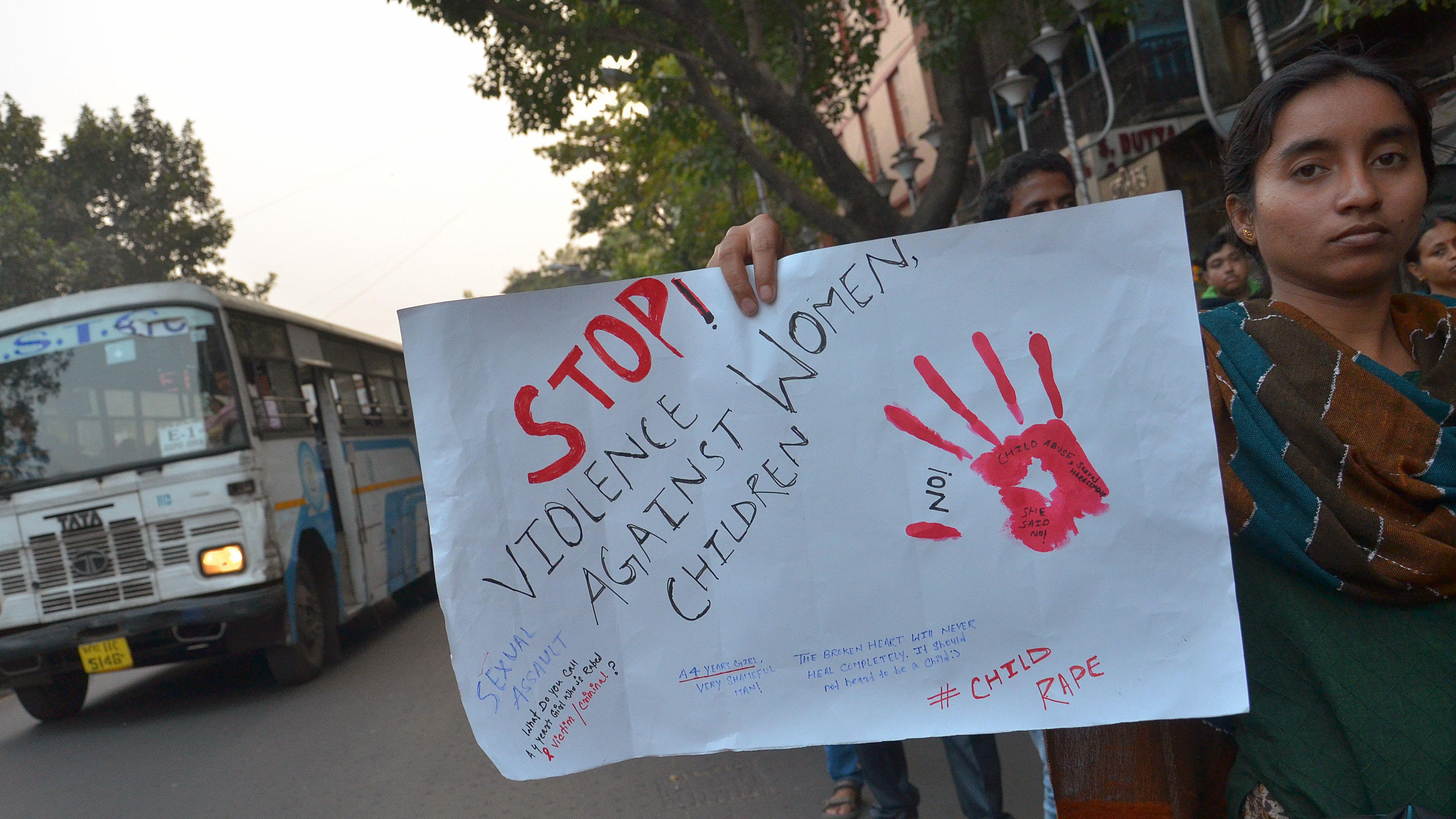 Protest in Kalkutta gegen Gewalt an Frauen (Archivbild von 2017).