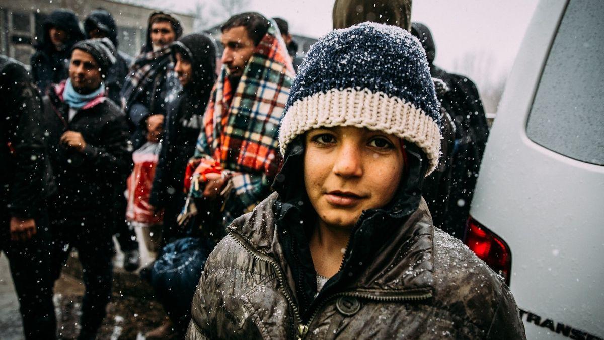 Geflüchtete im bosnischen Flüchtlingslager Lipa.