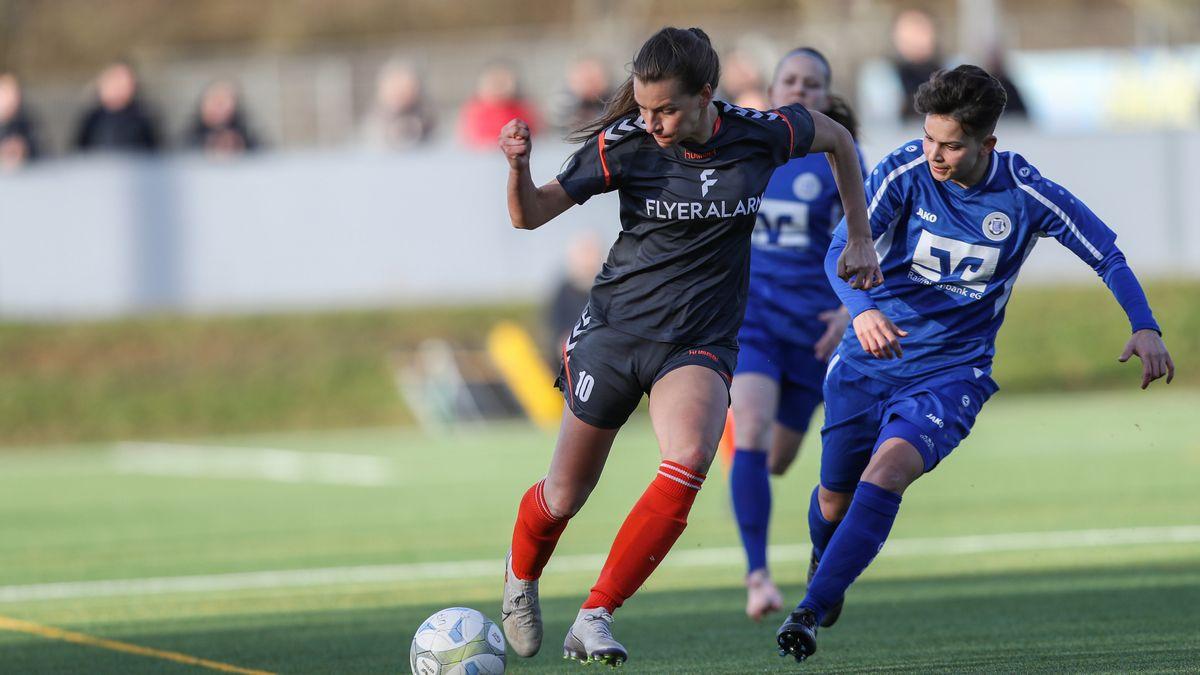 Stürmerin Medina Desic im März 2020 im Spiel gegen Calden