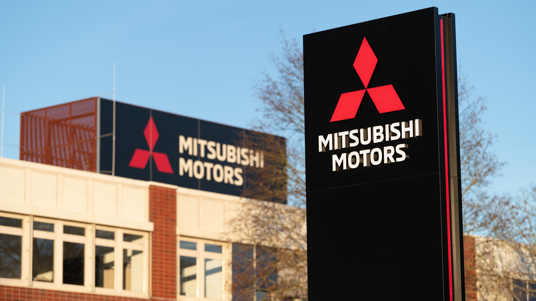 Außenansicht des japanischen Autoherstellers Mitsubishi Motors am Standort Friedberg.