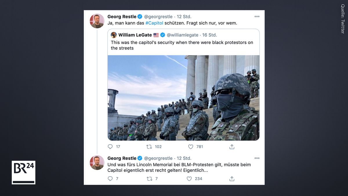 Die Falschbehauptung wird auf Twitter verbreitet - plus späterem Hinweis